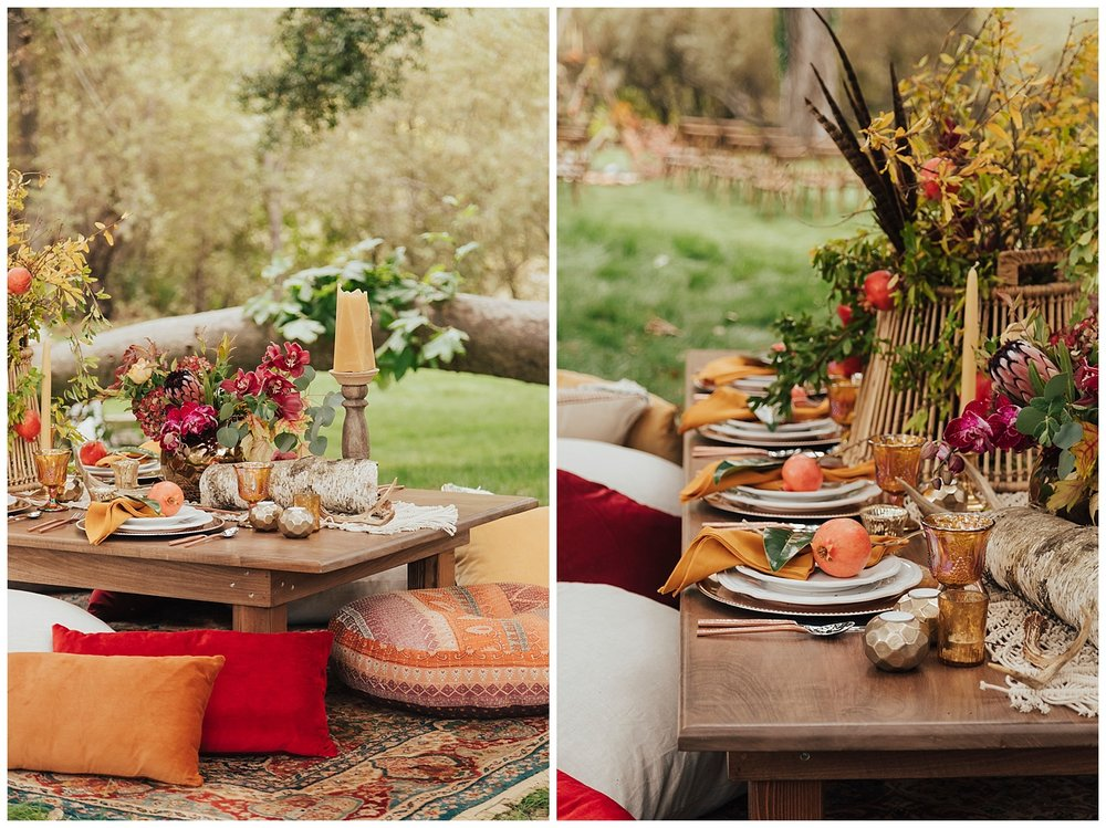 carol oliva photography boho table details