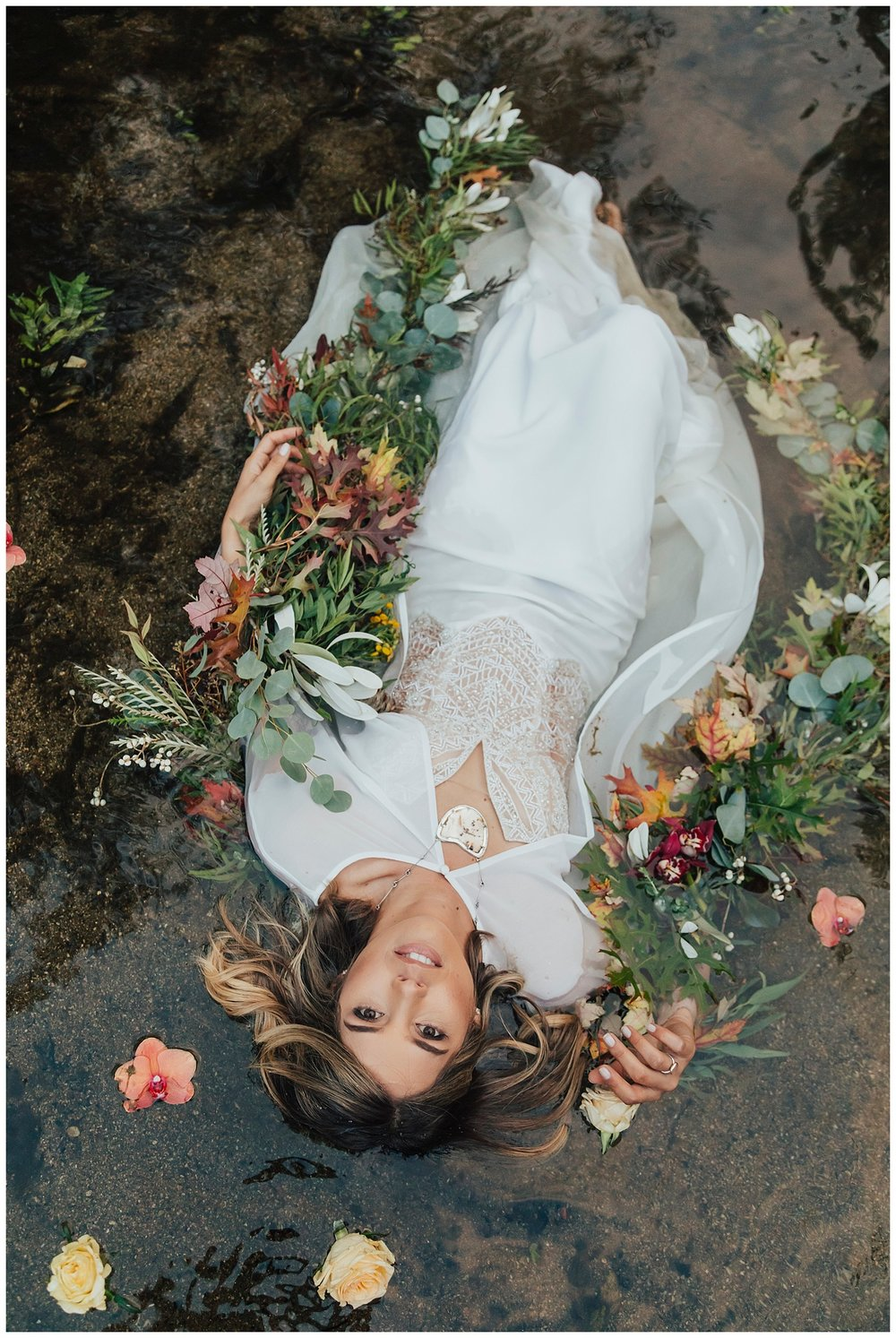 carol oliva photography gardener ranch bride in river