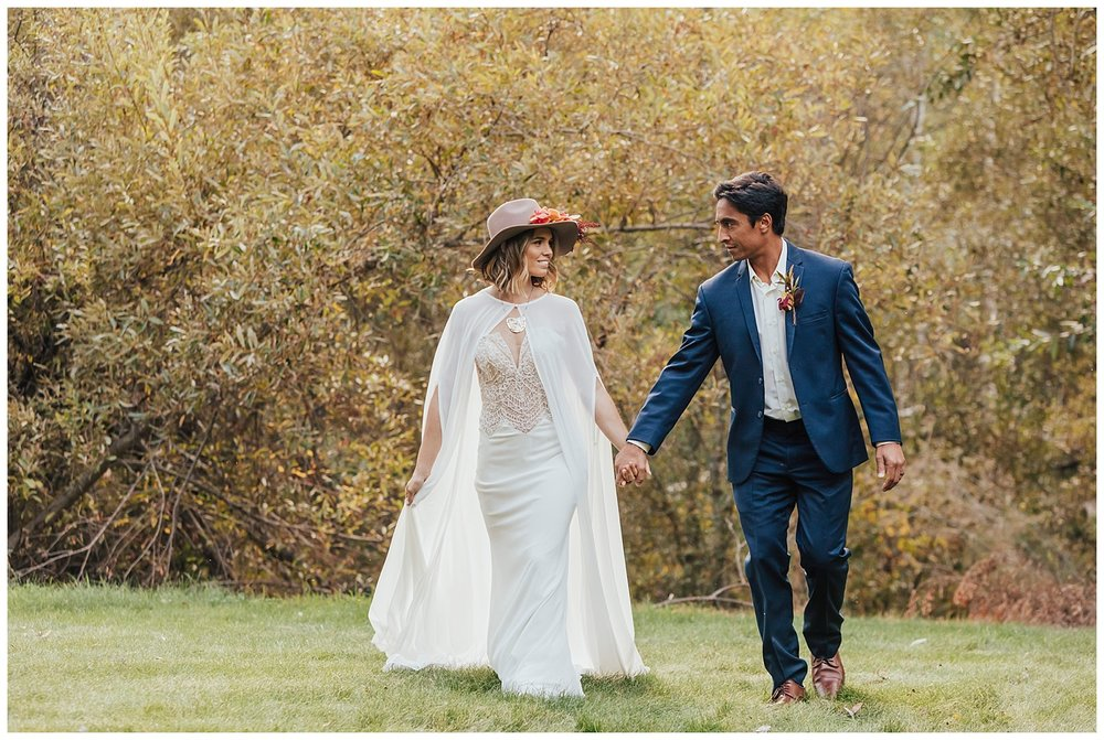carol oliva photography boho bridal couple fall wedding