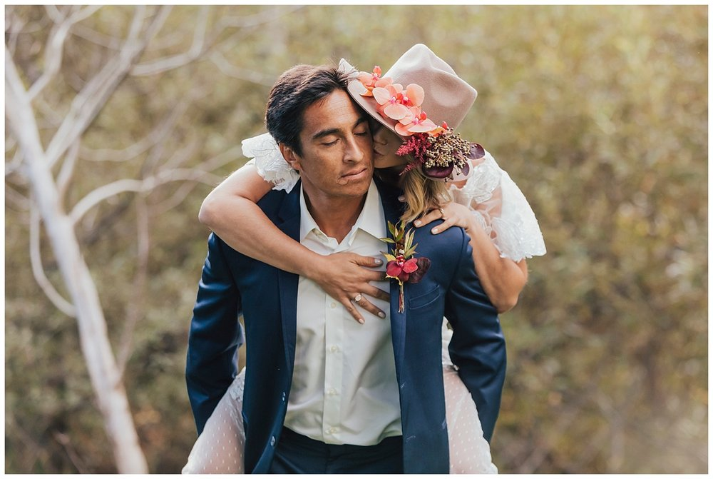 carol oliva photography boho bridal couple