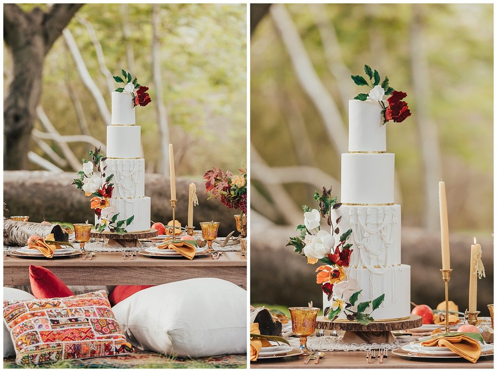carol oliva photography boho wedding cake