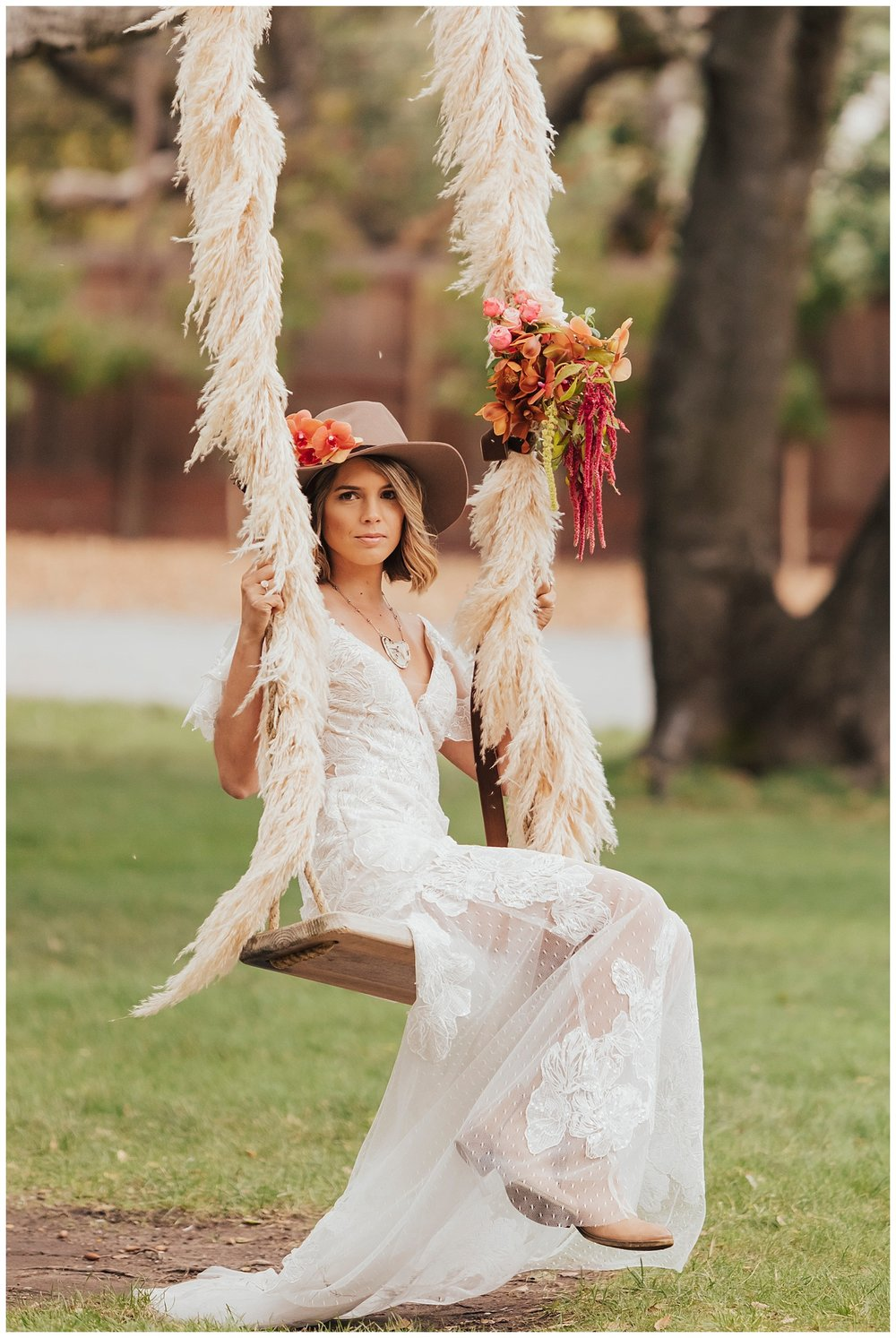 carol oliva photography boho bridal swing