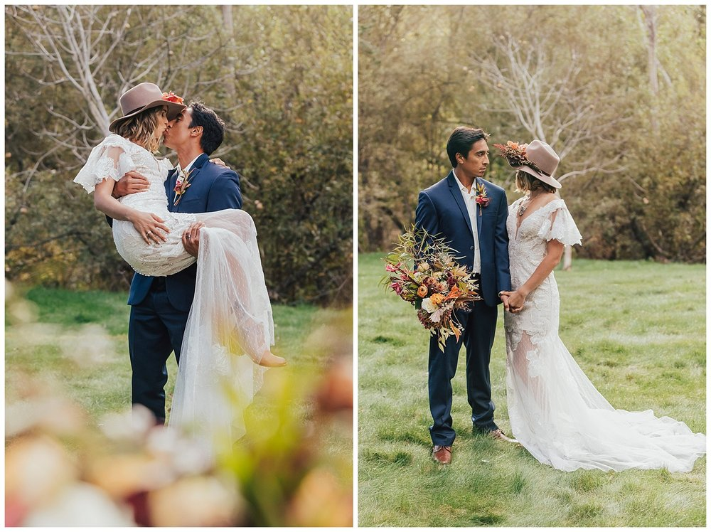 carol oliva photography boho wedding couple