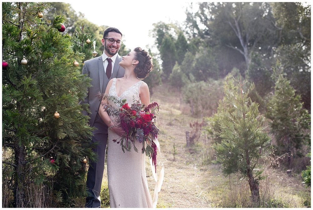 christmas-winter-tree-farm-wedding-couple-just-married.jpg