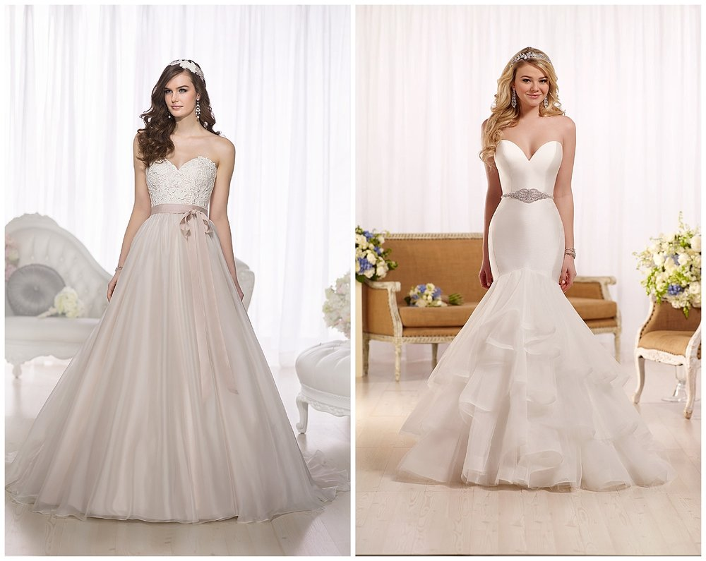 We're going to have a huge selection of Essense of Australia gowns available!