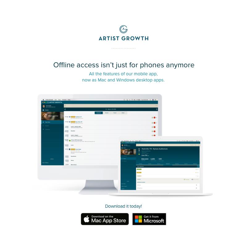 Product Update: Desktop App — Artist Growth