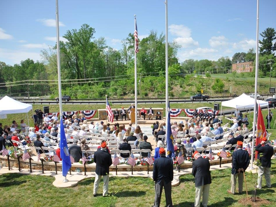 VIETNAM MEMORIAL - The Charlottesville Dogwood Memorial is dedicated to the lasting memory of all who served our country in Vietnam and especially those from the Charlottesville Albemarle area who gave their lives in that service.