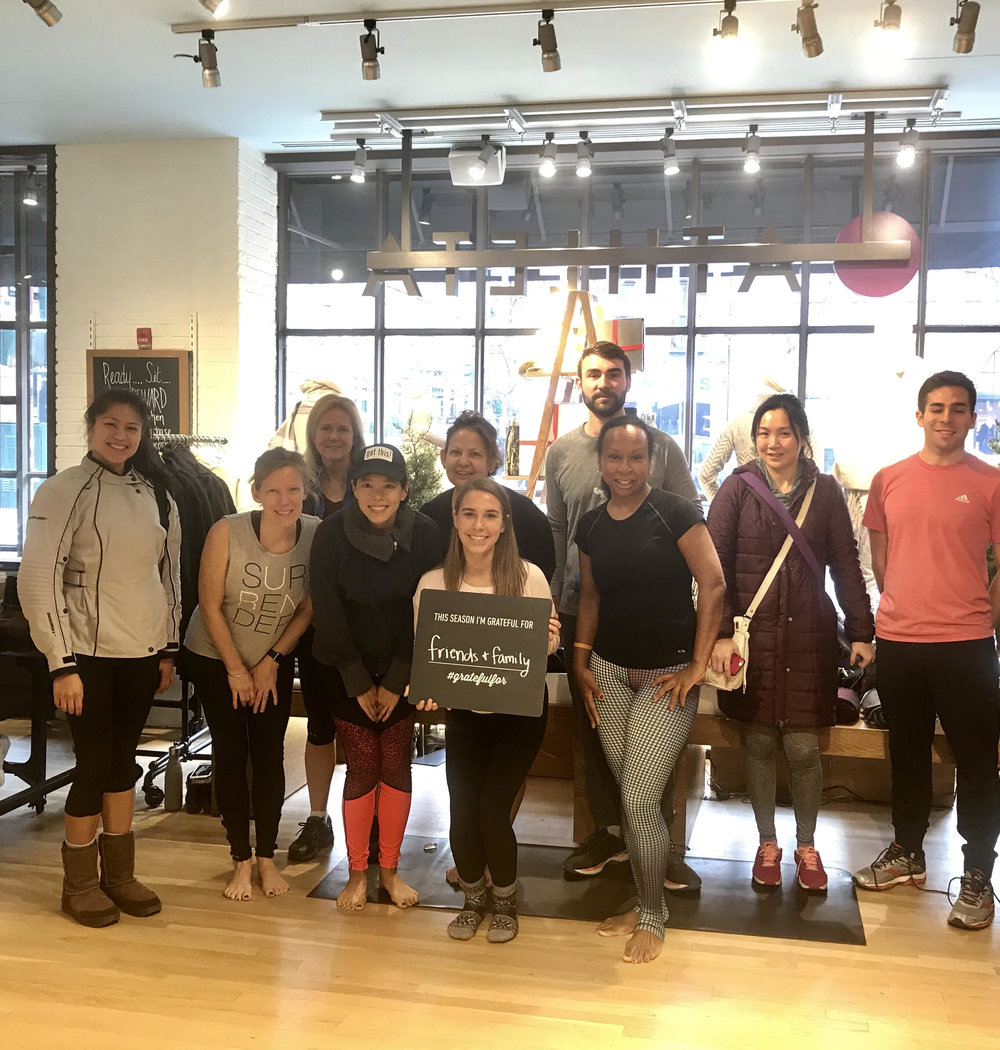 Don't forget to check your  local Athleta store calendar  for free classes and events!