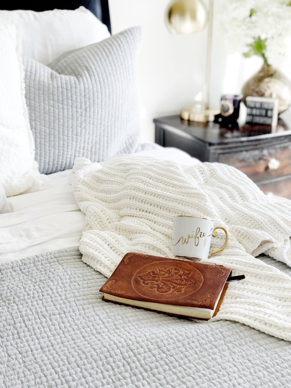Our Bed:the {cozy} basics - the coziest (affordable!) basics you didn't know you needed .. ;)