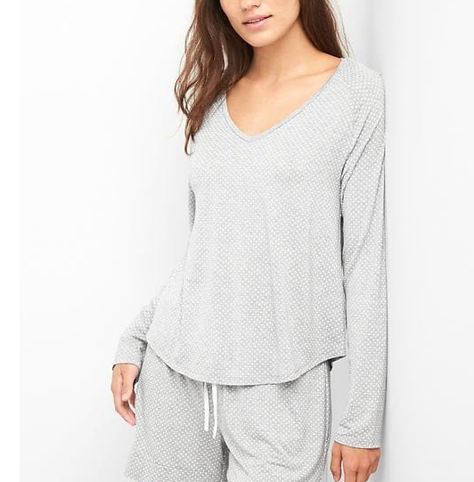 gap modal v neck sleep t