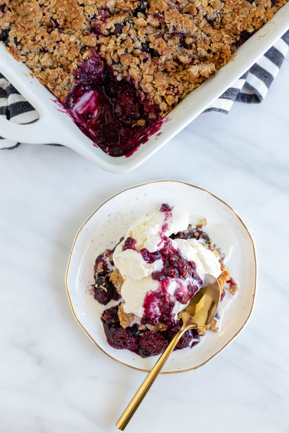Triple berry crisp - a cozy life staple