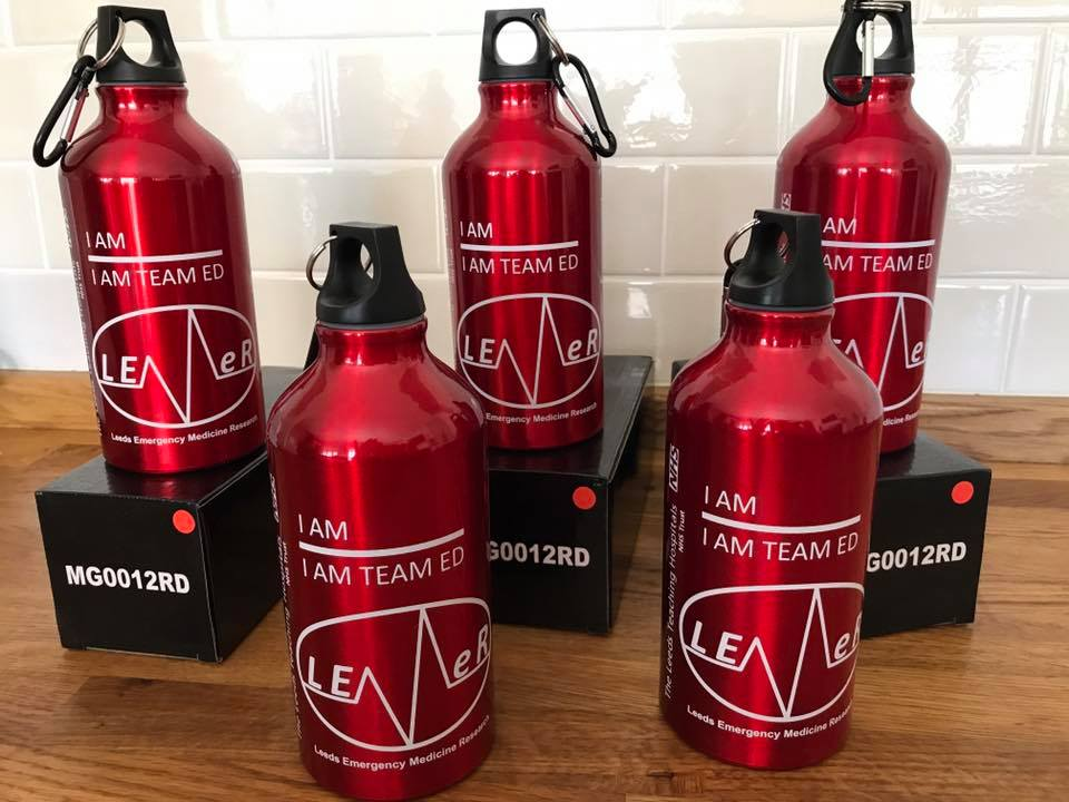 I AM TEAM ED water bottles provided by LEMeR