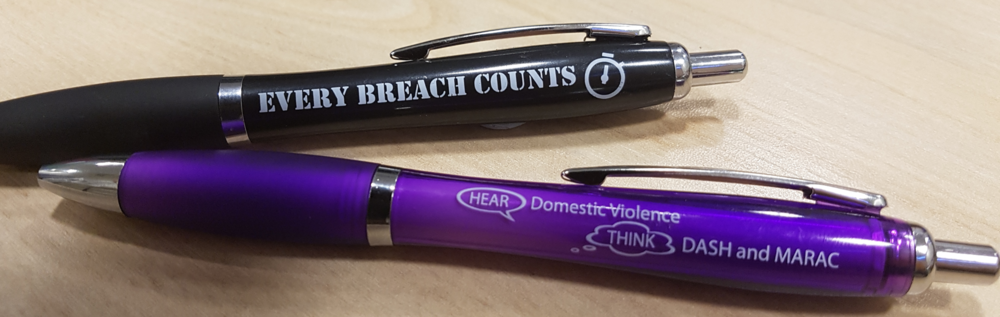 Safeguarding and 'Every Breach Counts' pens