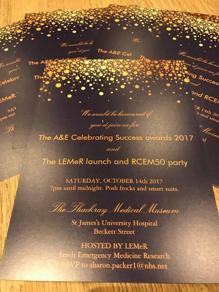 A&E Celebrating Success Awards 2017 - Invites