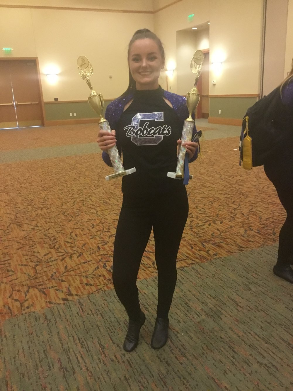 Chloe Elliott, after a dance competition