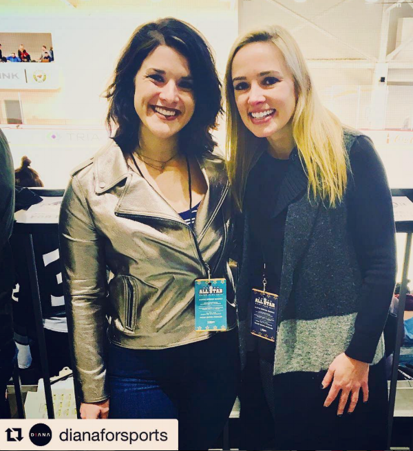 With NWHL founder and commissioner, Dani Rylan