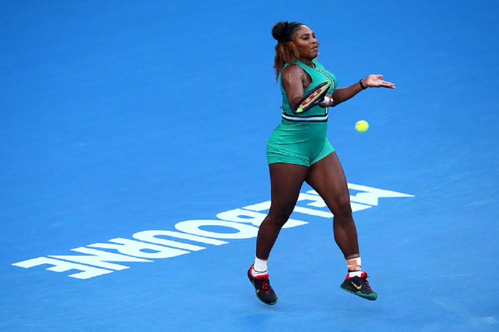 Serena Williams at the Australian Open.  Image Credit- Tennis.com