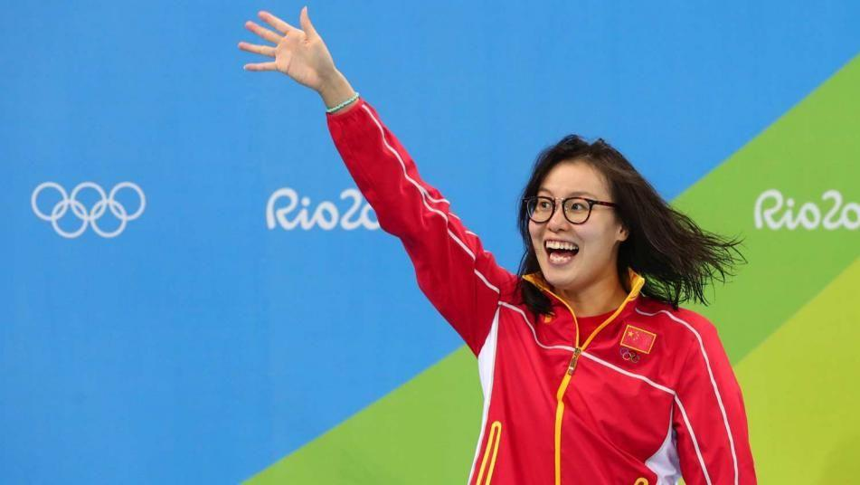 Image Credit- Associated Press  Chinese swimmer Fu Yuanhui who garnered international attention after winning bronze at Rio and speaking candidly about her experience of competing on her period.