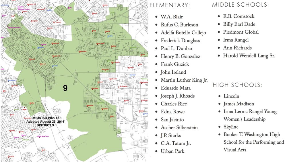 Dallas ISD District 9 Map and Schools.jpg