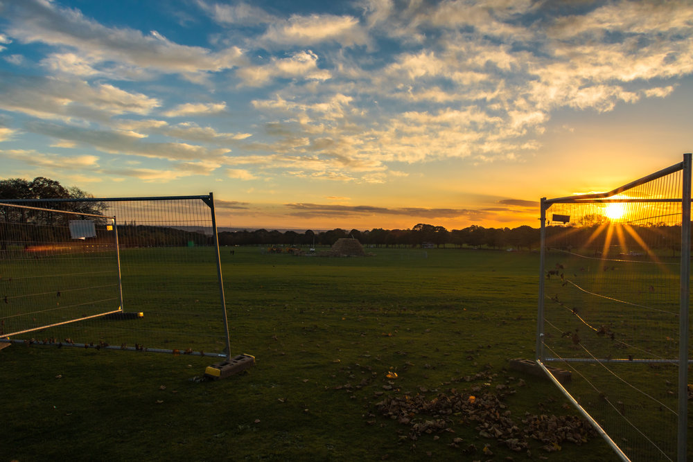 Sunset at Soldiers Field, Roundhay Park, Leeds