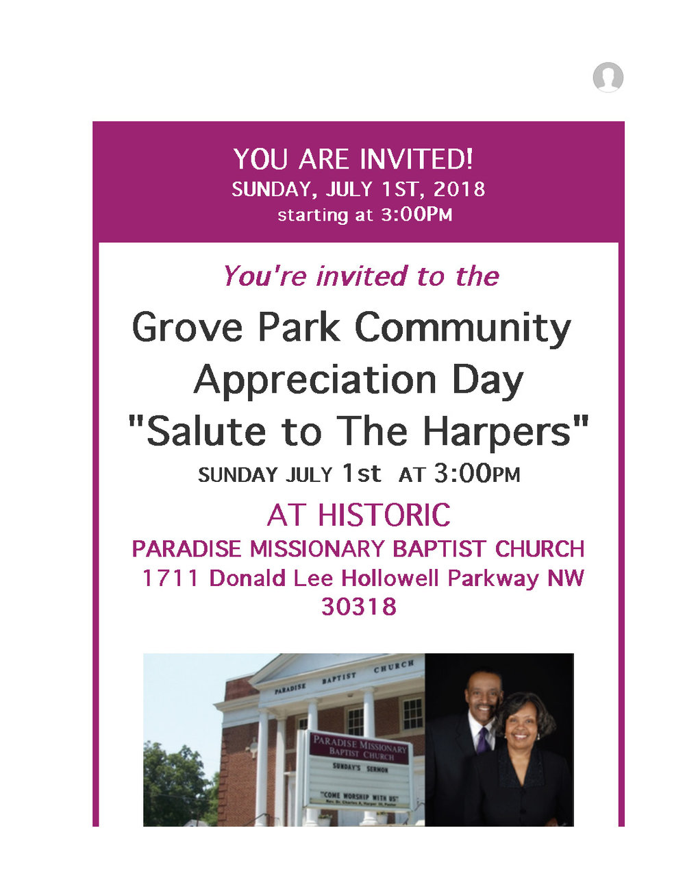Join In Saluting The Harpers At Historic Paradise Baptist Church This Sunday July 1st_Page_1.jpg
