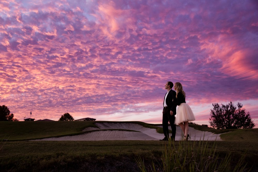 Orlando Sunset Engagement Photography