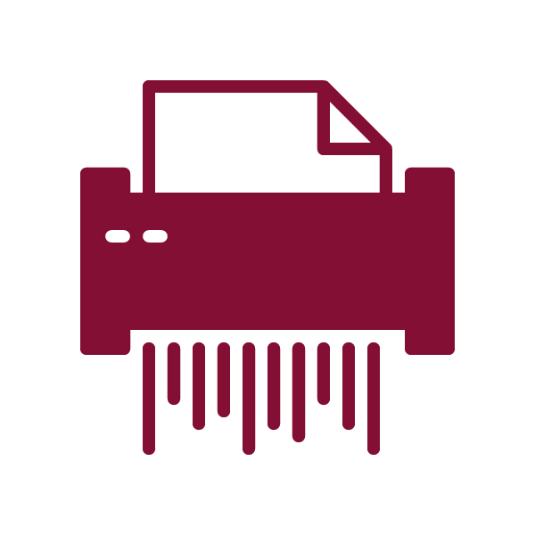 Paper Shredding Icon.     hard drive destruction  technology recycling  document shredding  security  privacy  data  info  information  OKC  Oklahoma City  trust