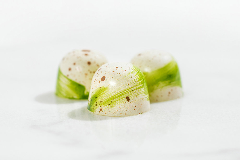 Lime Hazelnut Cafe Crunch Bonbons