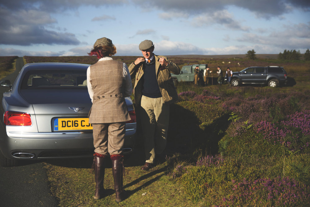 Reportage grouse season photo shoot by Matthew Lloyd