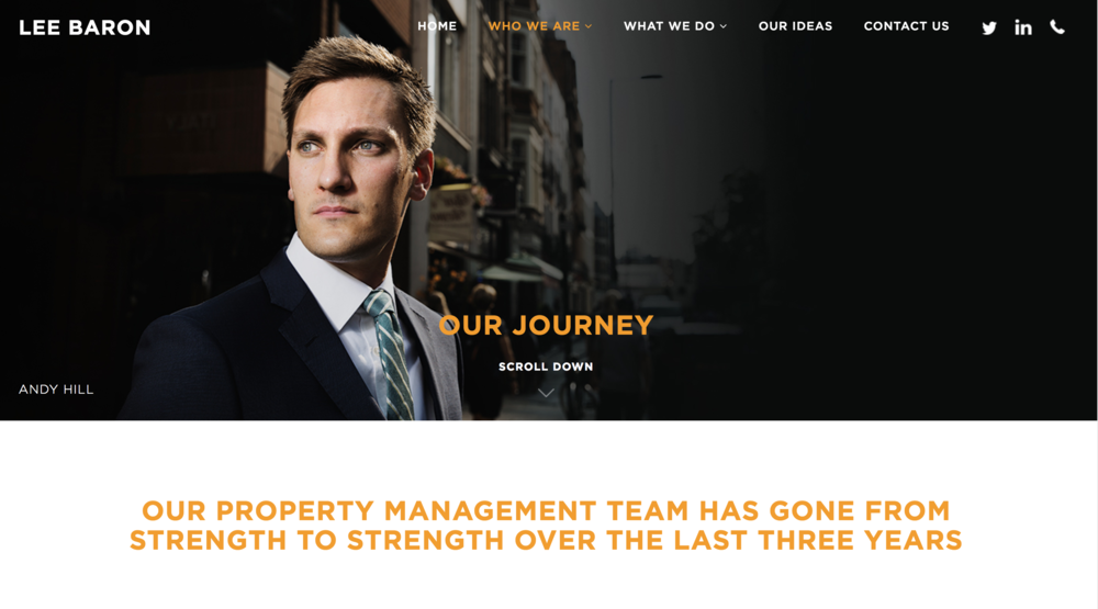 Business Case Study - Lee Baron - Lee Baron, a property management company, could have gone the usual route of stock images of skylines and city windows. But instead they focused on what makes their business - the people. Shot over two days, the result was enough imagery for an entire rebrand for their new website.