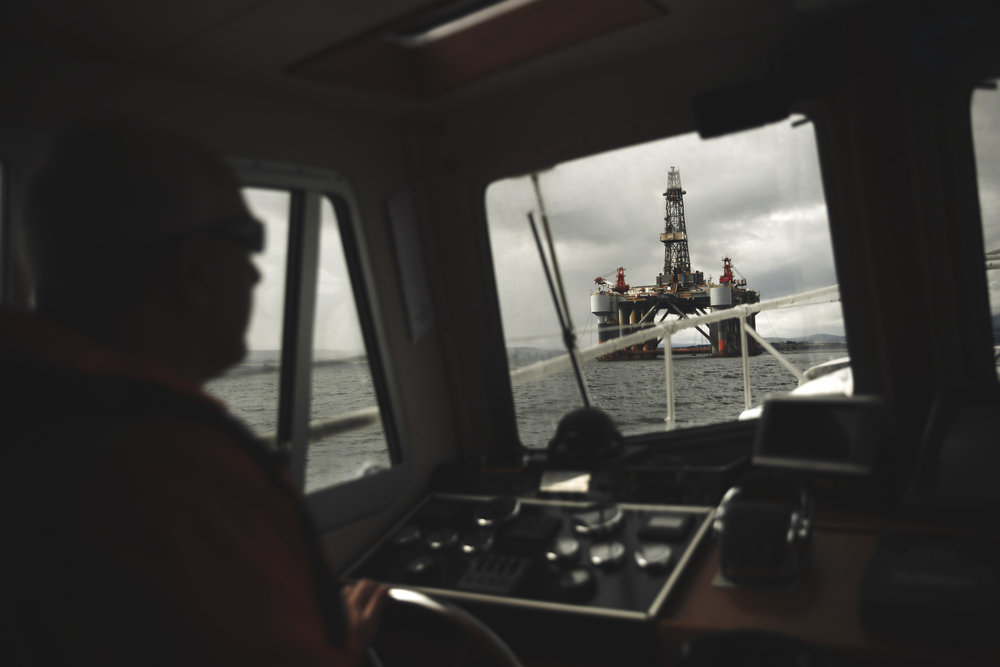 Photojournalism editorial for Bloomberg on drilling in the North Sea
