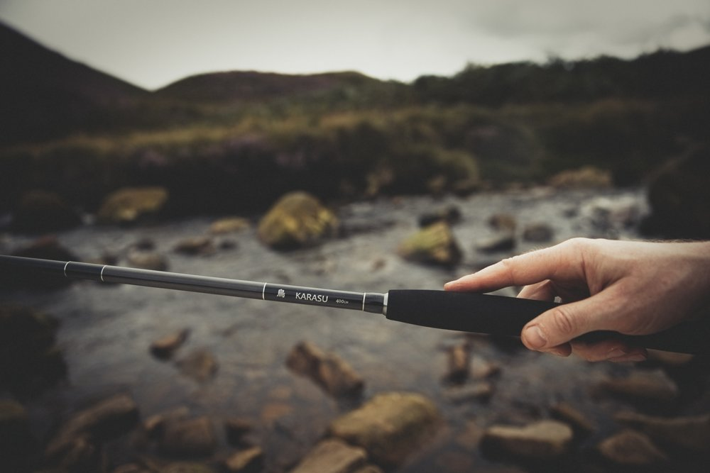 A modern Tenkara fly fishing rod - no reel.