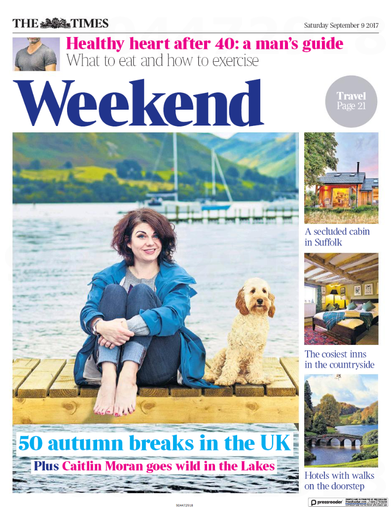 portrait of writer caitlin moran in the lake district by editorial location photographer matthew lloyd, based in cumbria and yorkshire
