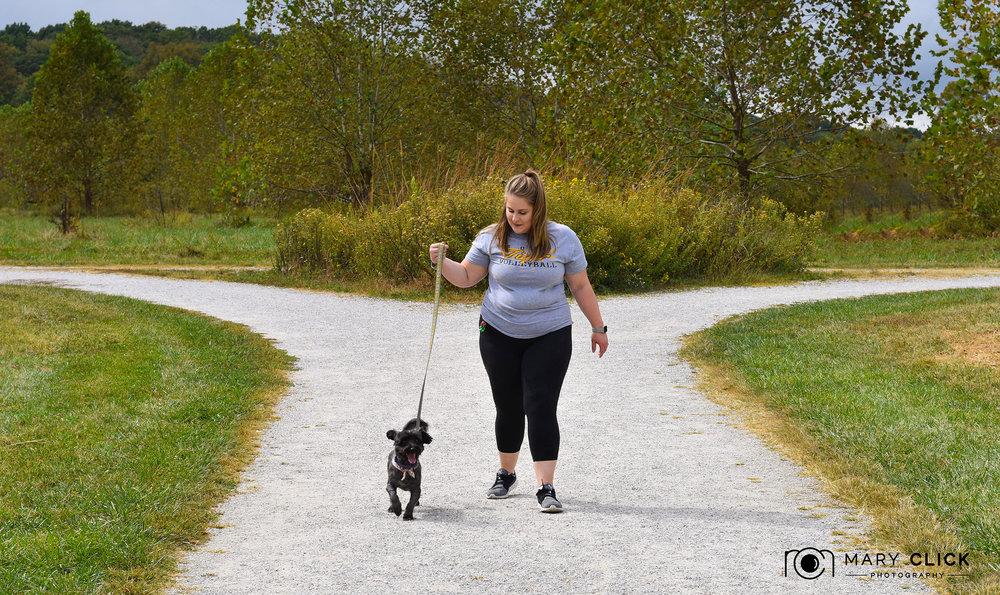 """""""Buster"""" & Nicolette ( cmhspets.org  volunteer)"""