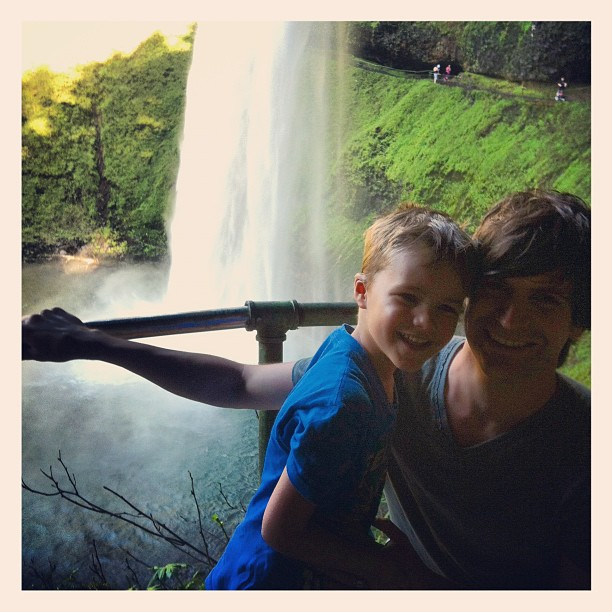 Tai and I at Silver Creek Falls