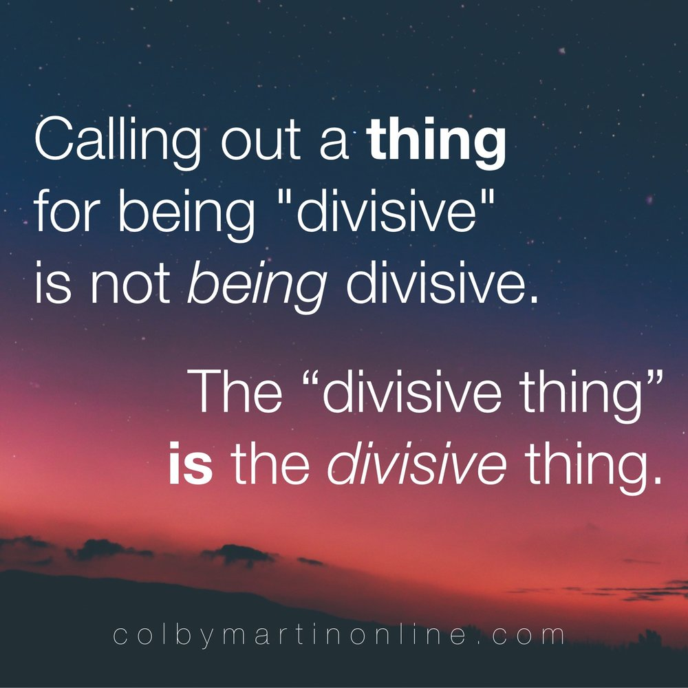 what does divisive mean, progressive christianity