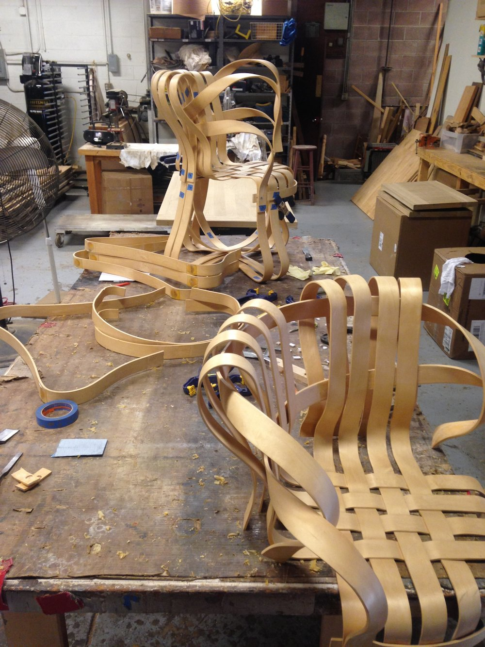 BEFORE - Frank Gehry KNOLL chairs