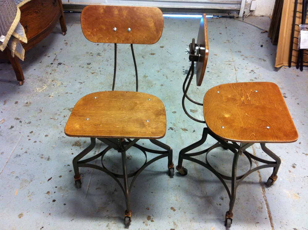 AFTER - WWII era military chairs