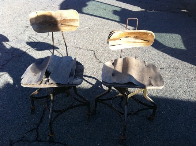 BEFORE - WWII era military chairs
