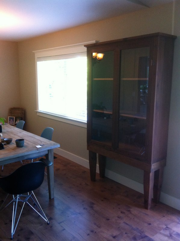AFTER - Redwood gun cabinet turned into hutch