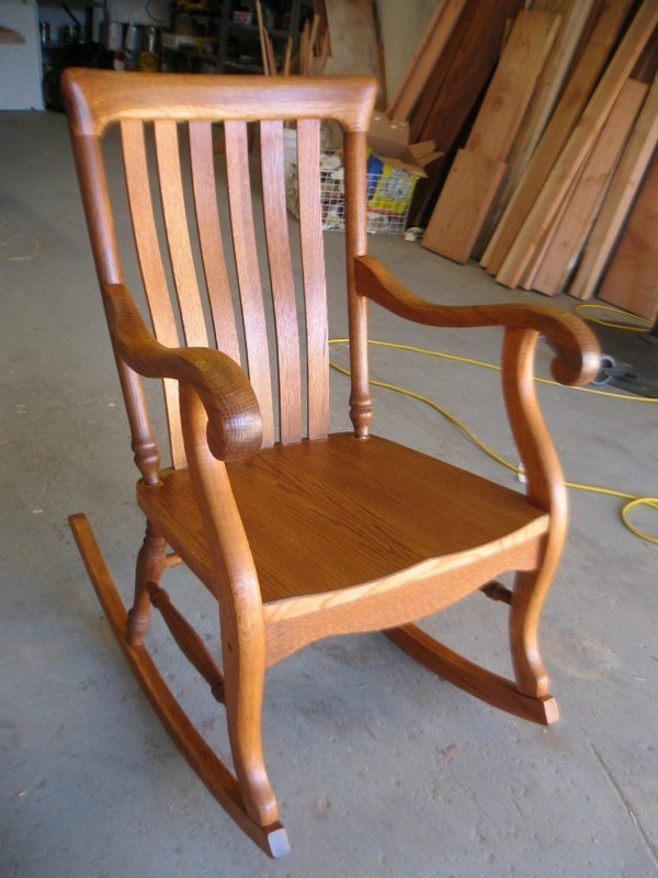 AFTER - Oak rocking chair