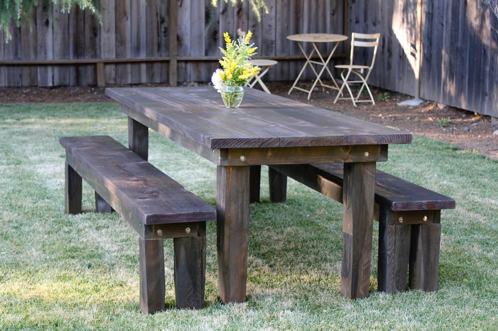 CUSTOM - Outdoor table and benches