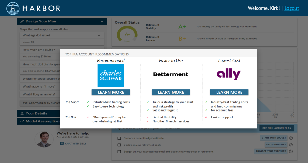 STEP 4: Get personalized advice on where to find help to improve