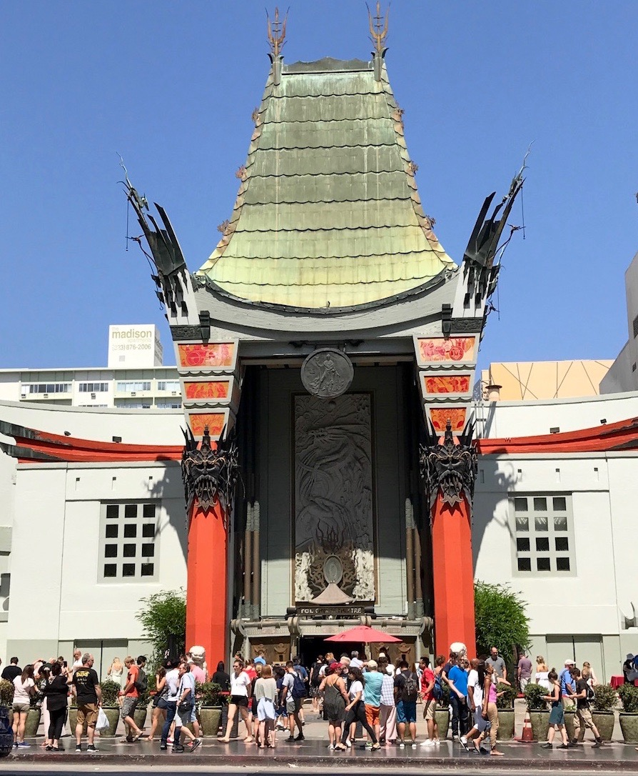 Grauman's Chinese Theater where fans catch glimpses of celebrities walking the red carpet as they arrive for movie premieres.