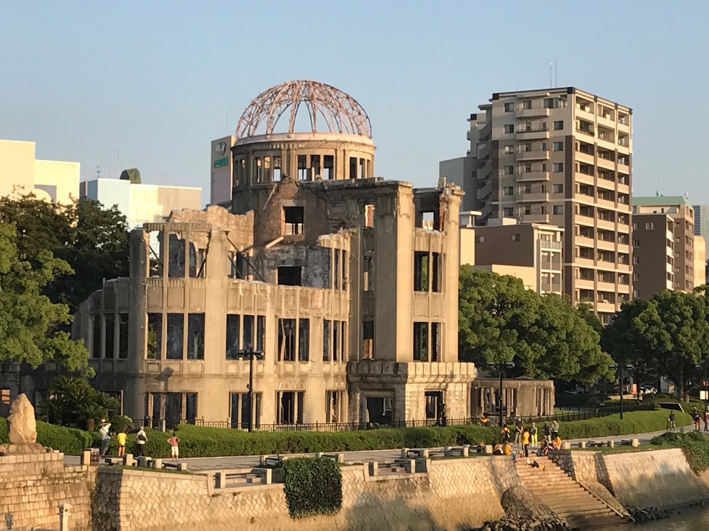 Atomic Bomb Dome as seen from across the Motoyasu River in Hiroshima