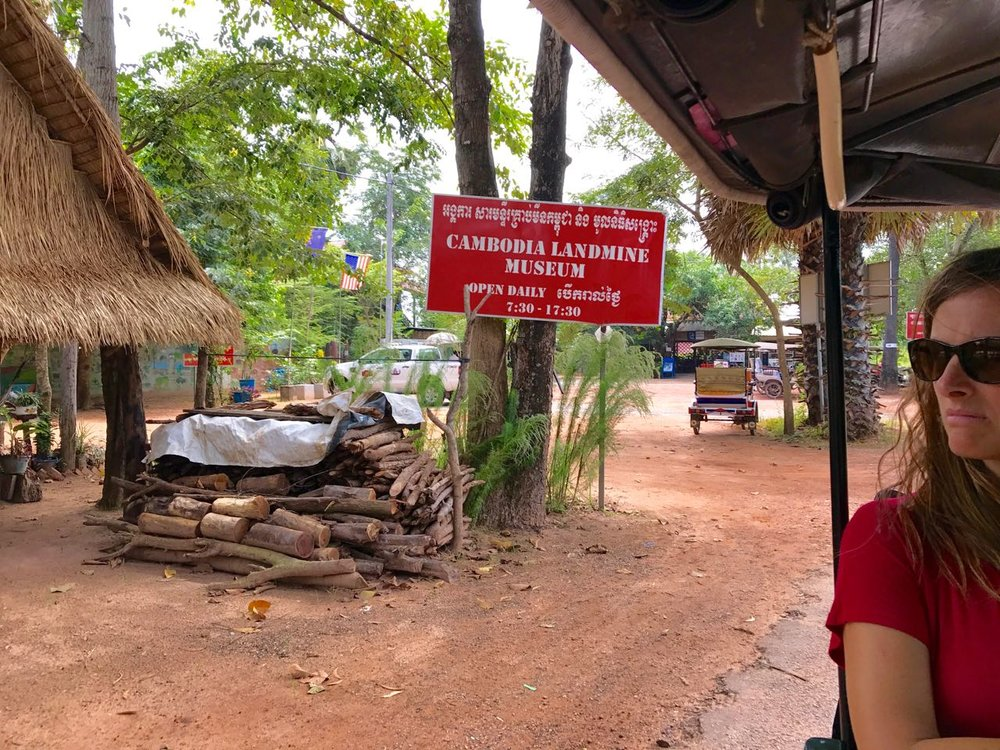 The Cambodian Landmine Museum impacted us in a big way, as before visiting, we had no idea how landmines still ravage the Cambodian people.