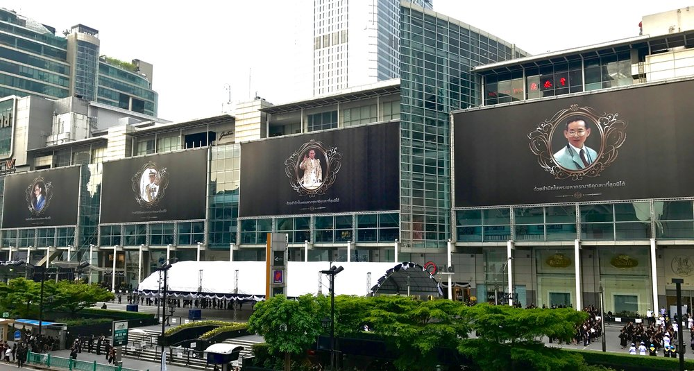 """The majority of billboards in Thailand featured tributes to """"Number 9."""""""