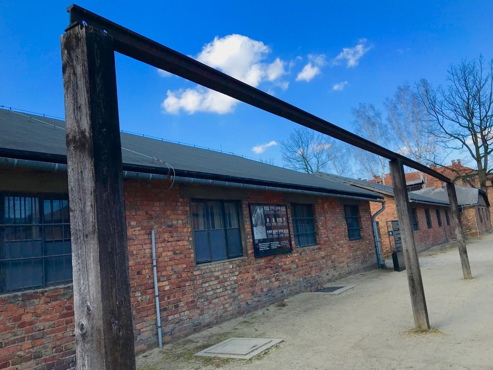 Gallows at Auschwitz