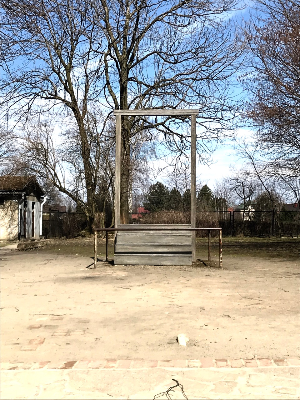 Gallows upon which Rudolph Höss hanged for his war crimes