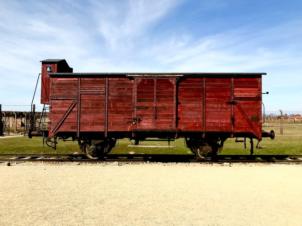 Cattle car at Birkenau
